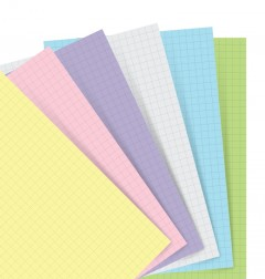 Filofax Notebooks - Feuilles de notes quadrillées - Assortiment Pastel