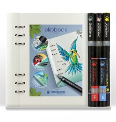 Clipbook A5 wit & Chameleon pennen bundel